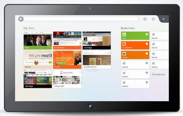 Windows 8 Metro İçin Firefox Arayüzü