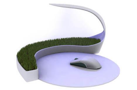 Çim yetiştiren mousepad