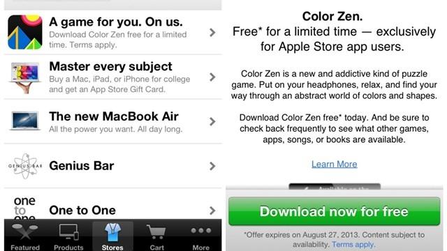 Apple, Mağaza Uygulamasını Kullananlara Ücretsiz Teklifler Sunuyor