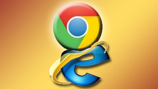 Google Chrome, Internet Explorer'dan Daha Popüler Oldu