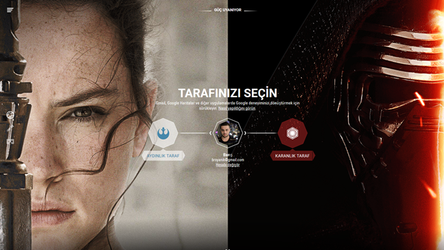 Google'dan Star Wars Uygulaması: Tarafınızı Seçin!