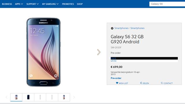 Samsung Galaxy S6 ve Galaxy S6 Edge Avrupa'da Ön Siparişe Sunuldu