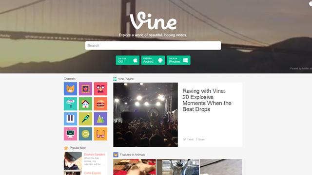 Vine'ın İnternet Sitesinde Gezinti Yapabilmek için Artık Bir Hesaba İhtiyacınız Yok