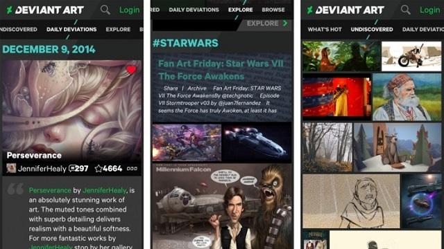 DeviantArt, Android ve iOS Uygulamalarını Yayınladı