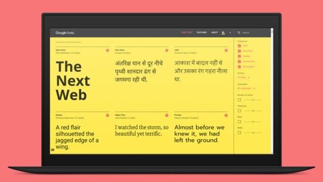 Tasarımcılar Google'ın Yenilenmiş Web Yazı Tipi Sitesine Bayılacak