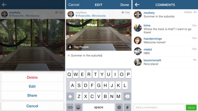 Instagram'daki Resim Başlıkları Artık Düzenlenebiliyor