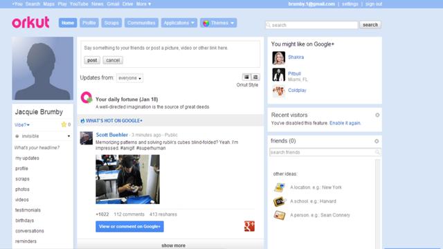 Google, Sosyal Ağ Orkut'un Fişini Çekti