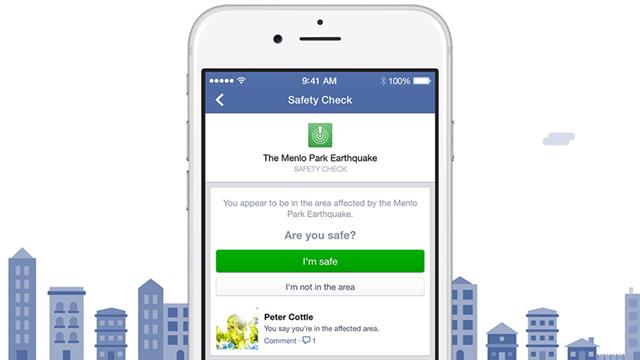 Facebook Doğal Afet Güvenlik Kontrol Sistemi Safety Check'i Tanıttı