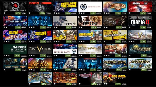 Steam'de 2K Games Rüzgarı: %80'e Varan İndirimler!