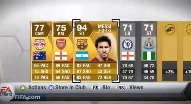 FIFA 13'de Yılın Takımına Sahip Olabilirsiniz