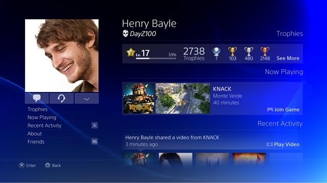 Playstation 4 - Kullanıcı Arayüzü Özellikleri