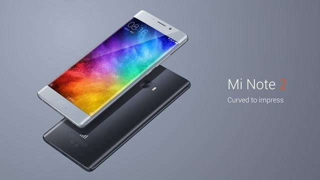 Xiaomi, Kavisli Ekranlı ve 22 MP Kameralı Mi Note 2'yi Tanıttı