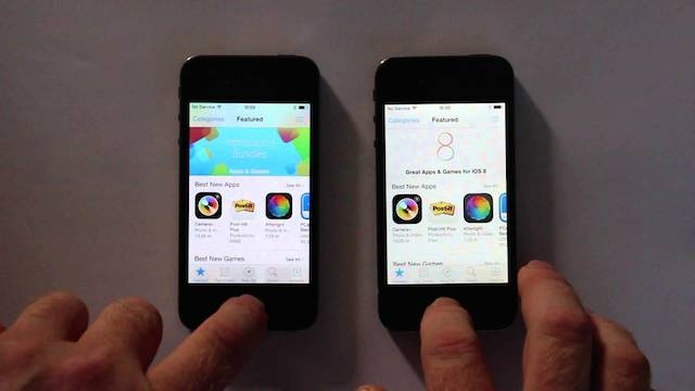 iPhone 4S'in iOS 7.1.2 ve iOS 8.0.2 Farkı