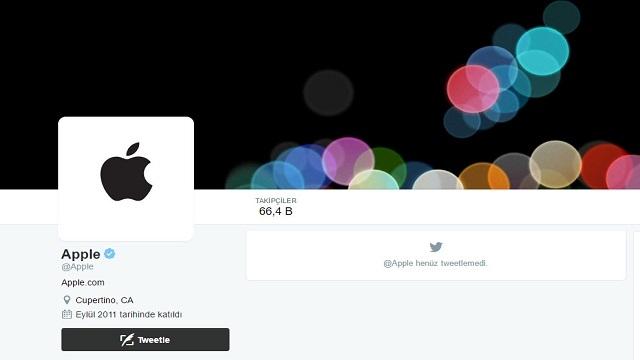 Apple'ın Resmi Twitter Hesabı İlk Tweet İçin iPhone 7'yi Bekliyor