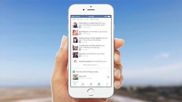 Facebook iOS Bildirim Merkezini Güncelliyor. İşte Gelecek Olan Yeni Özellikler!