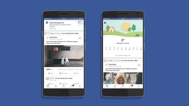 Facebook'un Hava Durumu Uygulaması Genişliyor