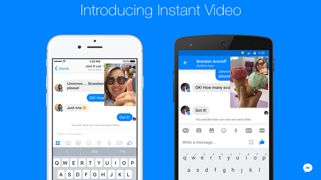 Anlık Video Özelliği Facebook Messenger'a Geliyor