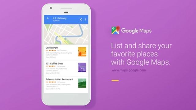 Google Haritalar ile Artık Yer Listeleri Oluşturmak Mümkün