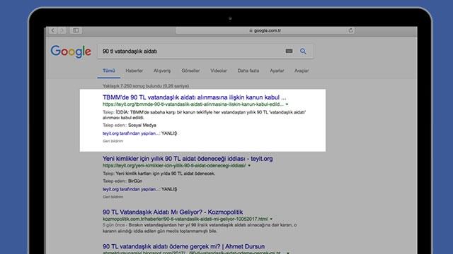 Google, Teyit.org Analizlerine Arama Sonuçlarında Öncelik Veriyor