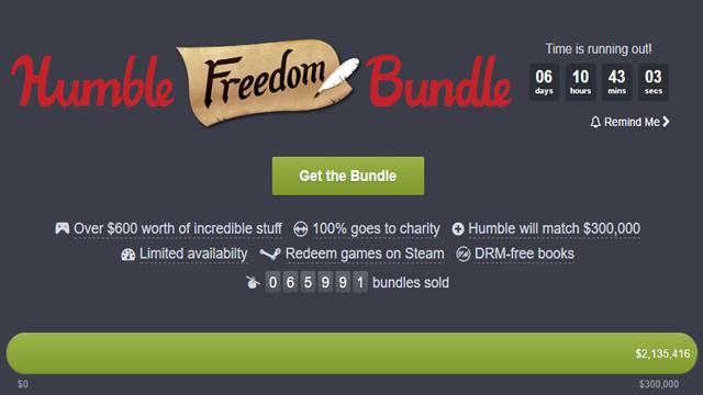 Humble Bundle'ın Muhteşem 'Freedom' Kampanyasını Kaçırmayın!