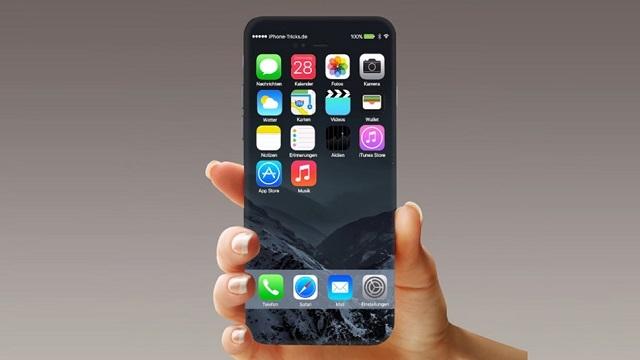 iPhone 8 için Kavisli ve Çerçevesiz Ekran İddiası