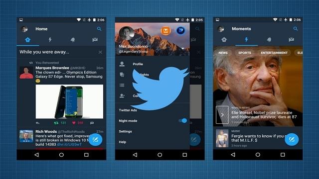 Twitter'ın Android Uygulamasına Gece Modu Özelliği Geldi