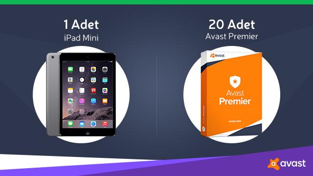 Avast Güncellendi! iPad Mini ve 20 Avast Premier Hediye Ediyoruz!