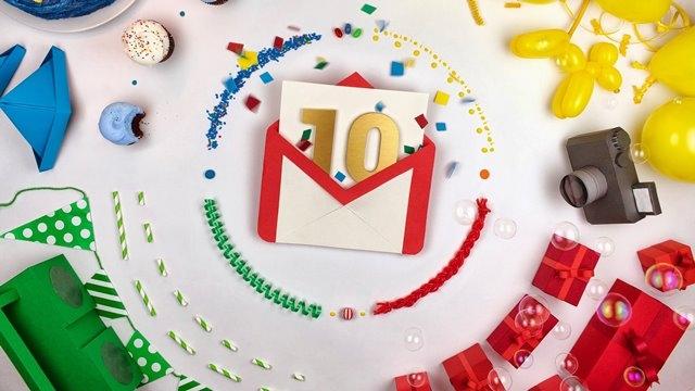 Gmail 10 Yaşında!