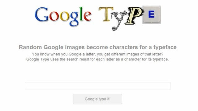 Google Type: Modern Çağın Yeni Fidye Notları
