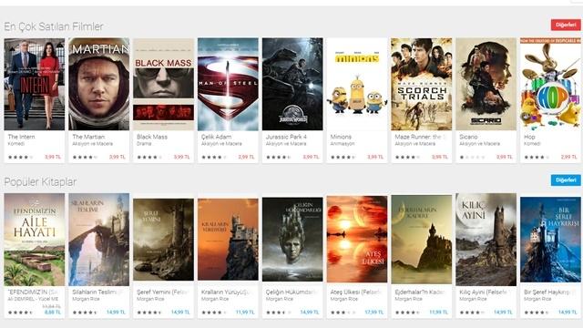 Google Play Filmler Türkiye'de Hizmete Girdi