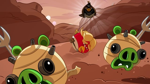 Angry Birds Star Wars Windows Phone 7 için Hazır
