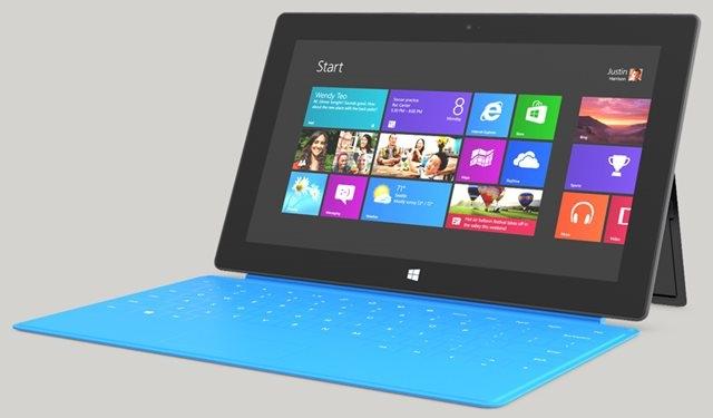 Windows 8 Pro'lu Microsoft Surface Fiyatları Belli Oldu