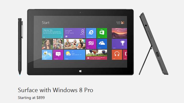 Windows 8 Pro'lu Yeni Surface Görücüye Çıktı