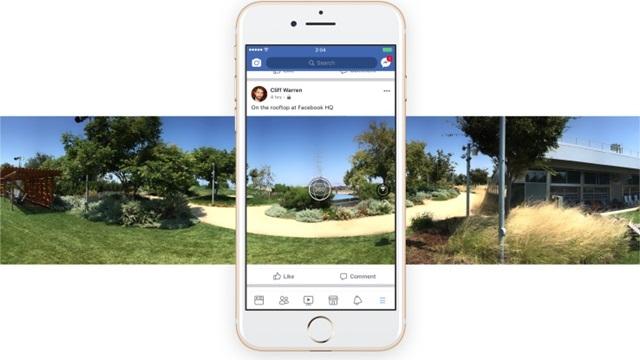 Facebook'ta 360 Derecelik Kapak Fotoğrafı Dönemi Başlıyor