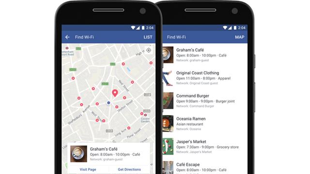 Facebook'tan ''Wi-Fi Bul'' Özelliği