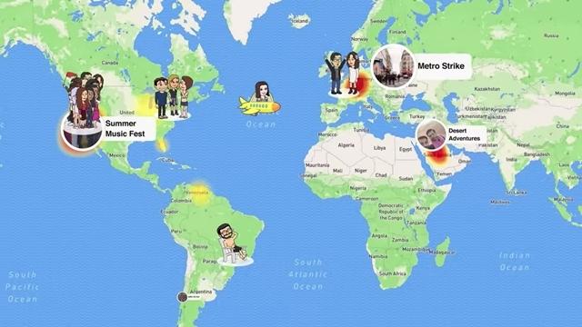 Huzurlarınızda Snapchat Konum Paylaşma Özelliği: Snap Map