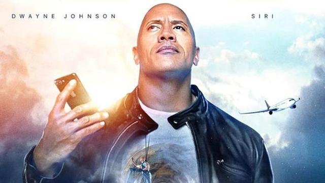 The Rock Yeni Reklam Filminde Siri ile Başrolü Paylaştı