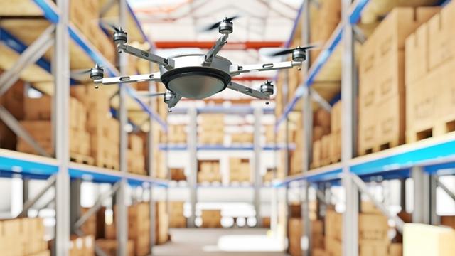 Depodaki Malları Drone'lar Sayacak
