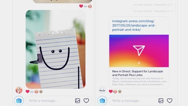 Instagram Mesajlarına Bağlantı Adresi ve Portre Desteği Geldi