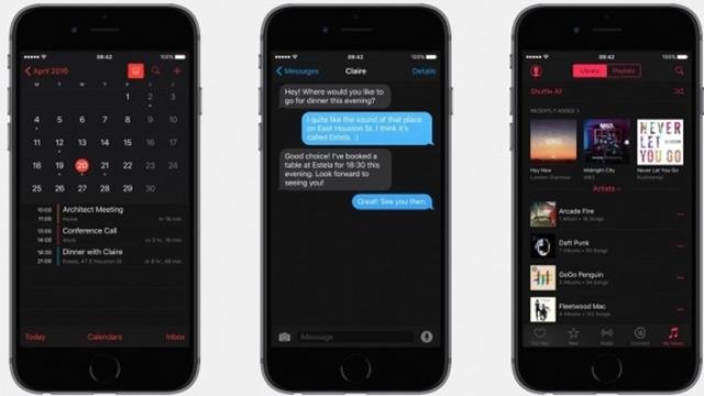 iOS 10'un Karanlık Teması Ortaya Çıktı