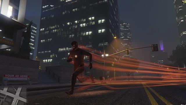 The Flash Los Santos Sokaklarında Koşuyor