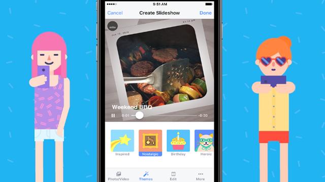 Facebook Muhteşem Fotoğraf Gösterileri için Slideshow'u Aktif Hale Getiriyor