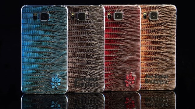 Samsung, Galaxy Alpha'nın Taş İşlemeli Deri Modelini Üretiyor