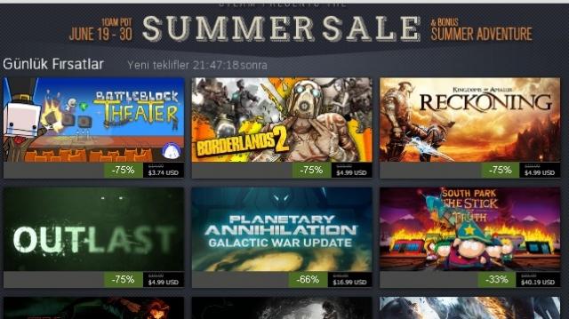 Outlast Ve Tomb Raider'lı Steam 4.Gün Keyfi!
