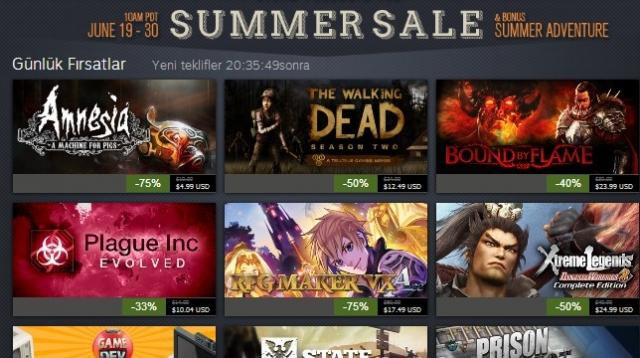Steam'in Muhteşem Yaz İndirimleri 2. Gününde