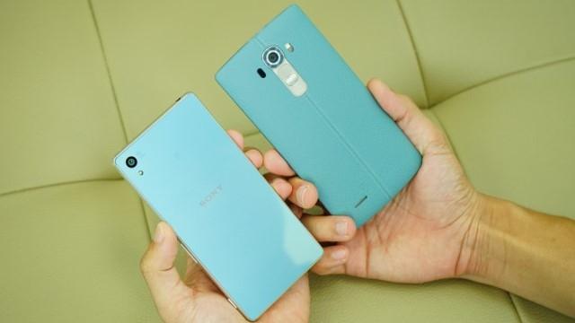 Turkuaz Renkli LG G4 ve Sony Xperia Z4 Yakında Satışa Çıkarılacak