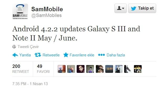 Samsung Galaxy Note 2 ve Galaxy S3'e Android 4.2.2 Güncellemesi Yakında Gelebilir