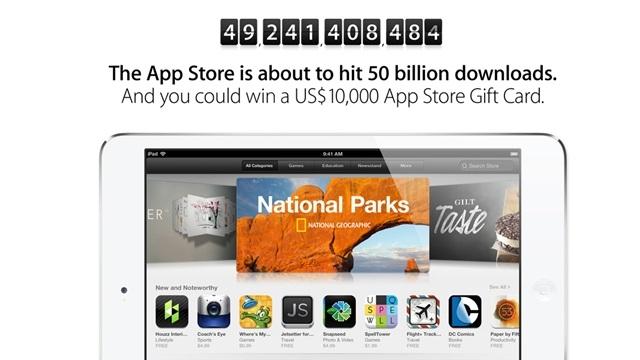 App Store 50 Milyarıncı İndirmeye Koşuyor