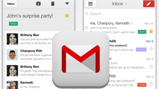 Gmail iPhone ve iPad Uygulamasına Google Uygulamaları Uyumluluğu Geldi