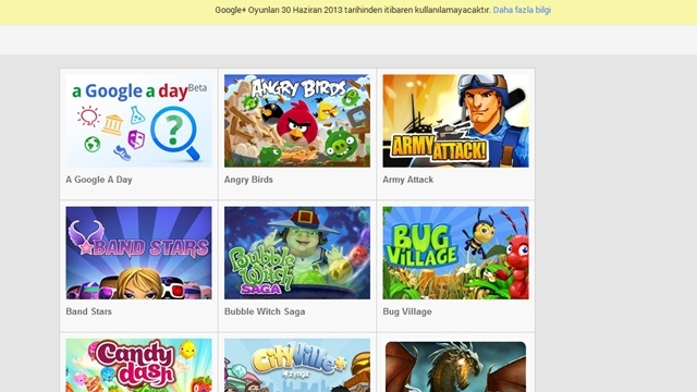 Google+ Oyunlar Servisi 30 Haziran'da Kapanacak